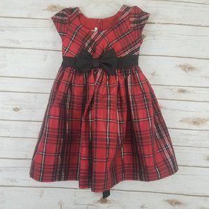 Bonnie Jean Red Plaid Party Dress